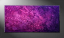 Original Handgemalt: 'Purple Sky' 140x70cm