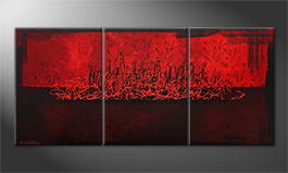 Original Handgemalt: 'Red Night' 150x70cm