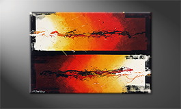 Original Handgemalt: 'Shores in Flames' 120x80cm