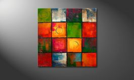 'Patchend Colors' 70x70cm Wandbild