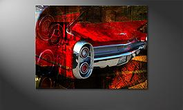 'Red Car' 100x80cm Wandbild