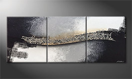 Unser Wandbild 'Connecting Silver' 180x70cm