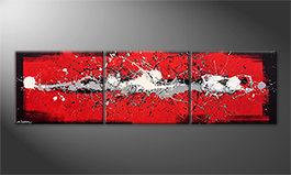 Unser Wandbild 'Cooled Emotions' 210x60cm