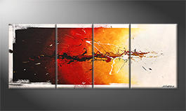 Unser Wandbild 'Fire On Ice' 180x70cm