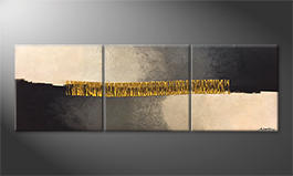 Unser Wandbild 'Golden Connection' 210x70cm