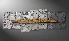 Unser Wandbild 'Golden Moves' 210x80cm