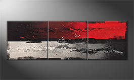 Unser Wandbild 'Hot And Cold' 210x70cm