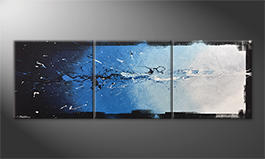 Unser Wandbild 'Into The Blue' 210x70cm