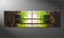 Unser Wandbild 'Light Canyon' 200x60cm
