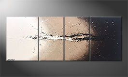 Unser Wandbild 'Light Splash' 180x70cm