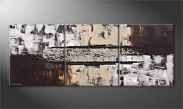 Unser Wandbild 'Silver Connection' 180x70cm