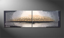 Unser Wandbild 'Whispering Light' 200x60cm