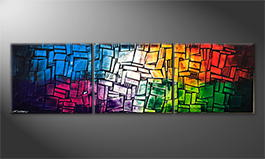 Vom Künstler: 'Colorful Feelings' 210x60cm