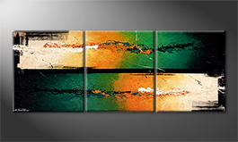 Vom Künstler: 'Hot Cold Streams' 180x70cm