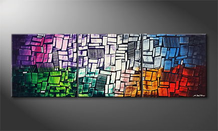 Von Hand gemalt: 'Abstract Colors' 210x70cm