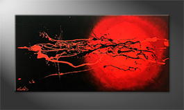 Von Hand gemalt: 'Cosmic Eruption' 120x60cm