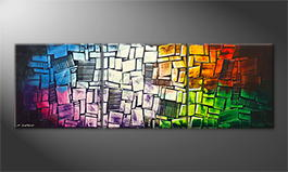 Von Hand gemalt: 'Disarranged Colors' 210x70cm