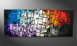 Von Hand gemalt: 'Elements' 180x70cm