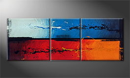 Von Hand gemalt: 'Fire and Ice' 190x70cm