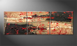 Von Hand gemalt: 'Hot Feelings' 210x70cm