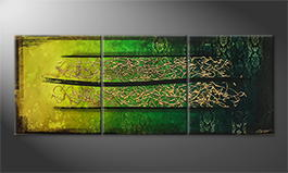 Von Hand gemalt: 'Jungle Gold' 210x80cm