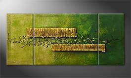Von Hand gemalt: 'Jungle Treasure' 180x80cm