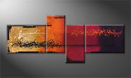 Von Hand gemalt: 'Magic Sundown' 240x100cm