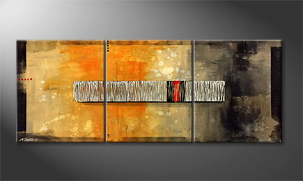 Von Hand gemalt: 'Red Hot' 180x70cm