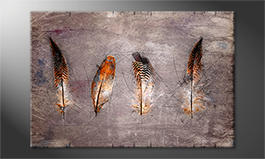 Moderne Wanddekoration<br>'Four Feathers'