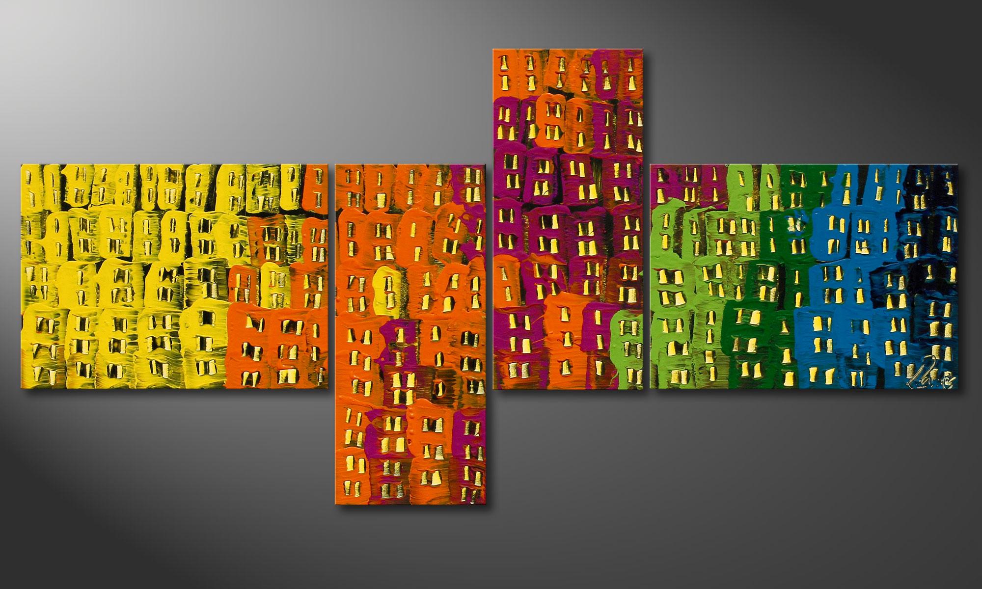 Das deko wandbild crazy town 120x60cm wandbilder xxl for Deko wandbilder