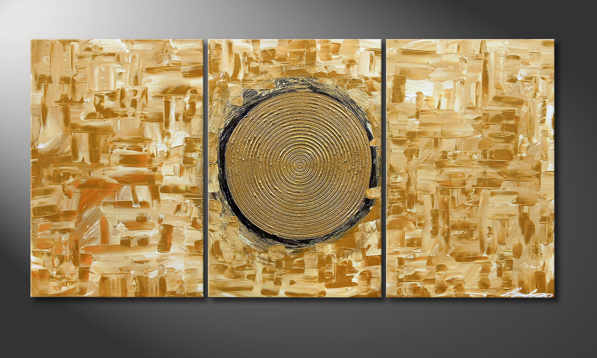 Das Wandbild Golden Sun 120x60cm Wandbilder Xxl