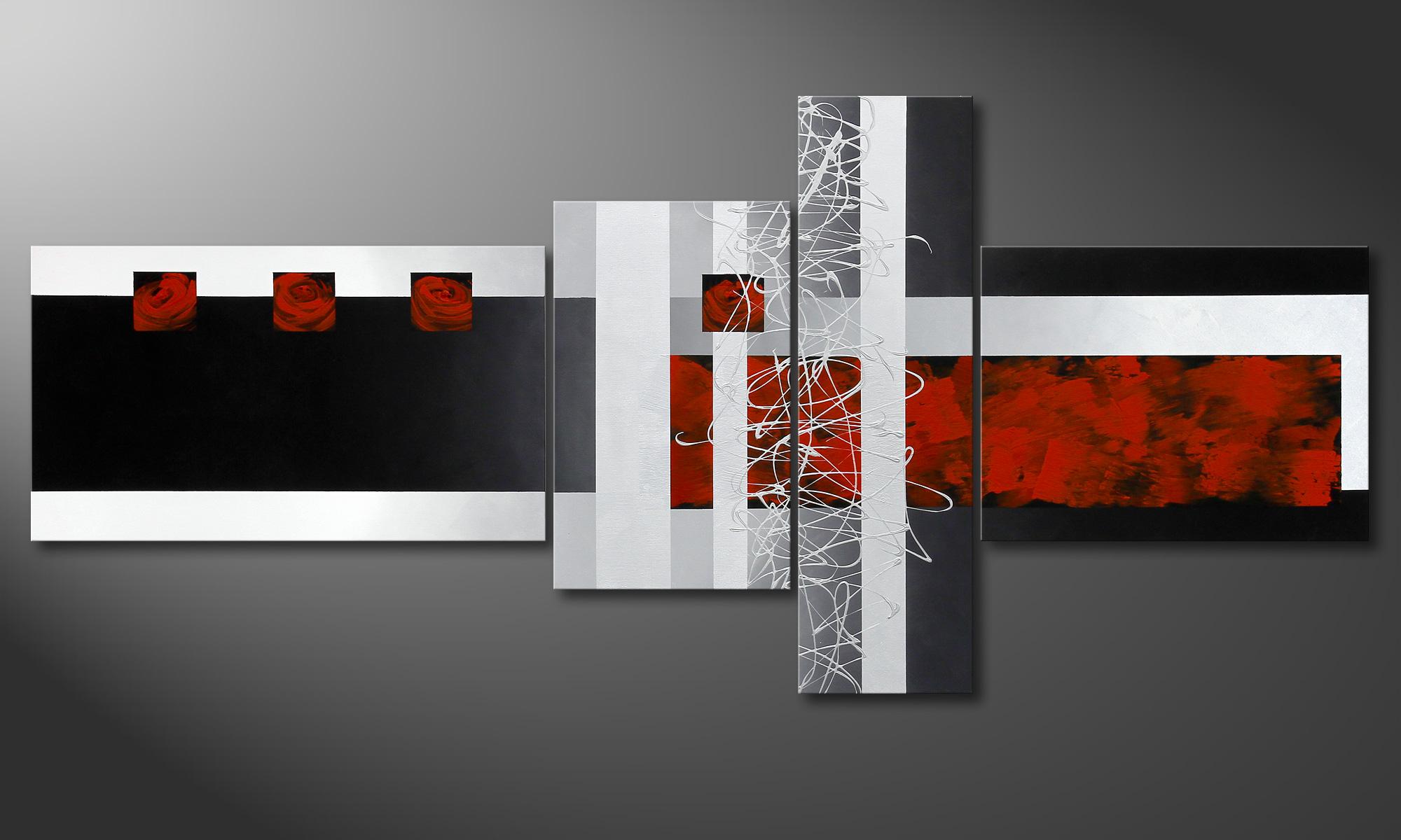 das handgemalte fameless emotions 220x100cm wandbilder xxl. Black Bedroom Furniture Sets. Home Design Ideas