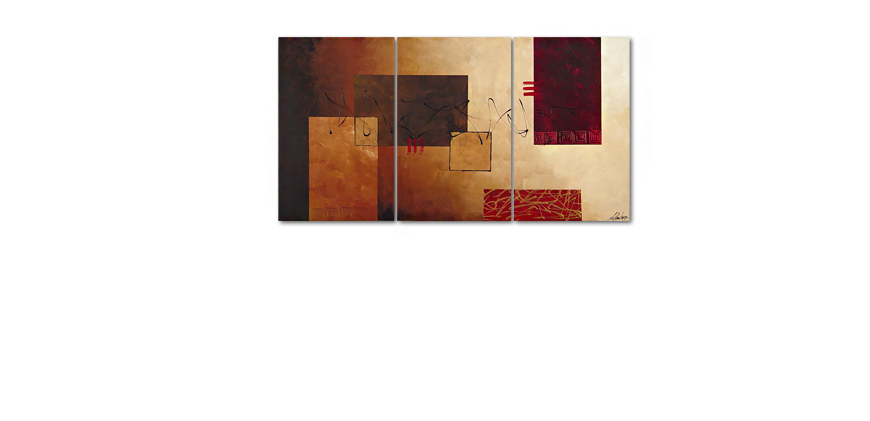 Das moderne Wandbild Lost Message in 150x80cm