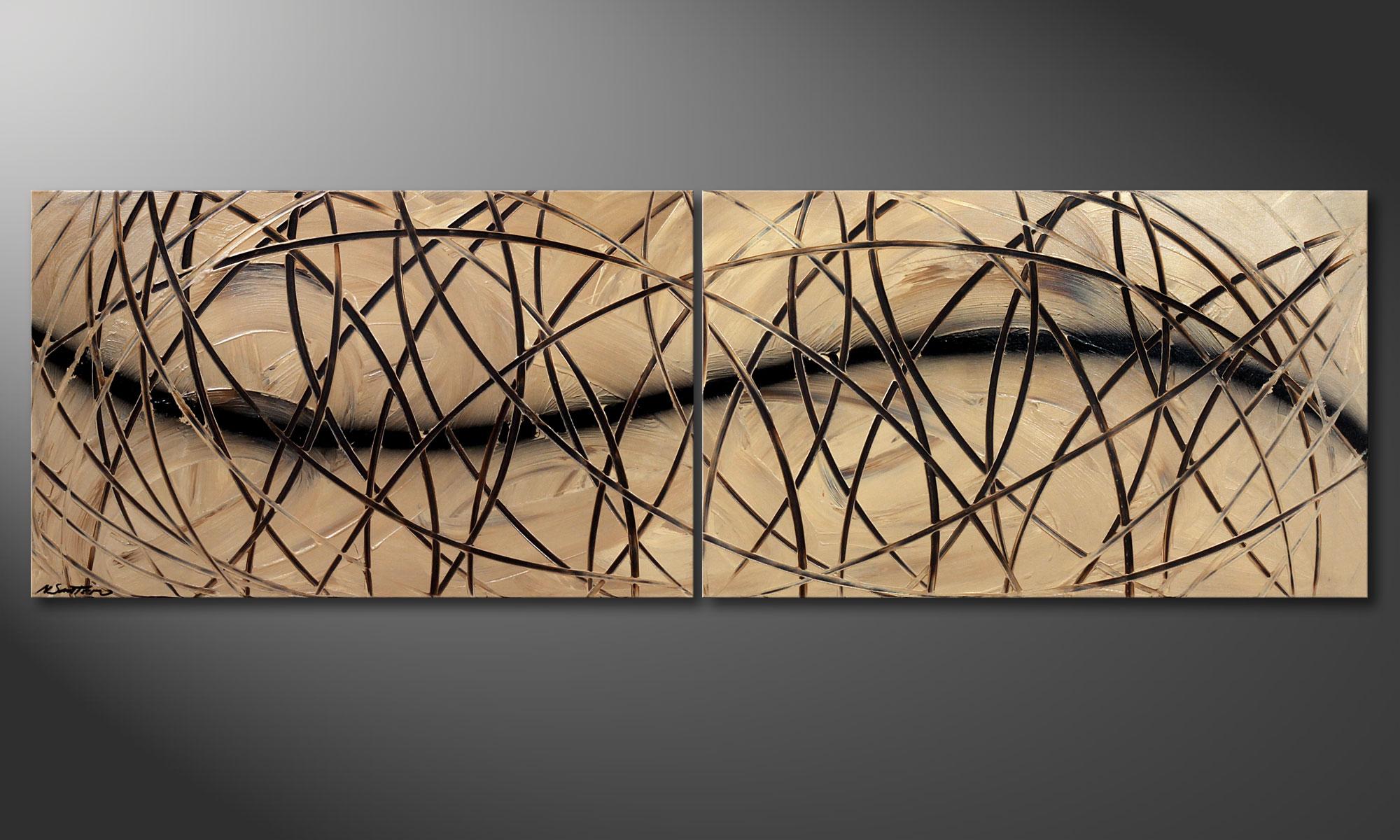 das acrylbild snow tempest 200x60cm wandbilder xxl. Black Bedroom Furniture Sets. Home Design Ideas