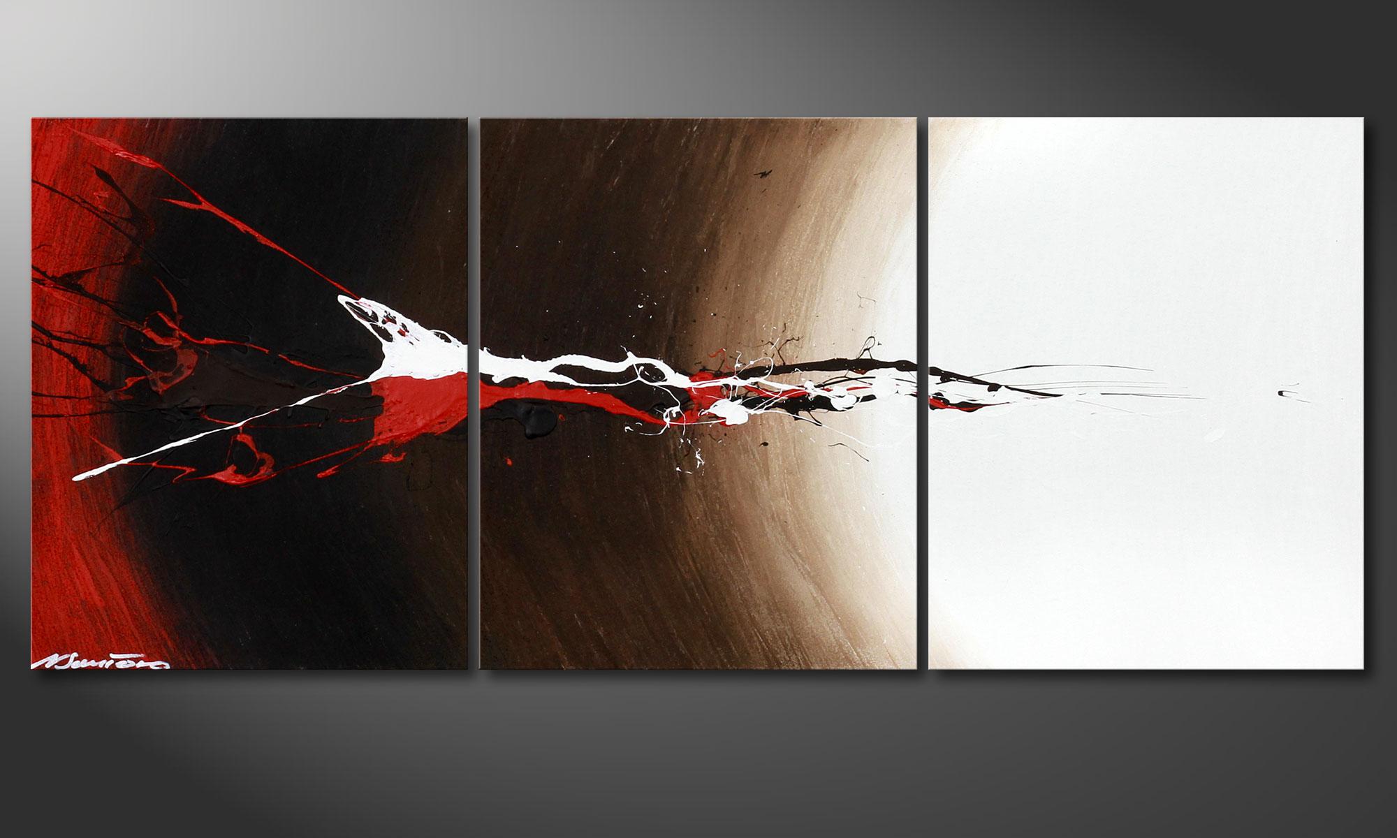 Das keilrahmen bild erupted contrast 120x50cm wandbilder xxl for Moderne bilder auf keilrahmen