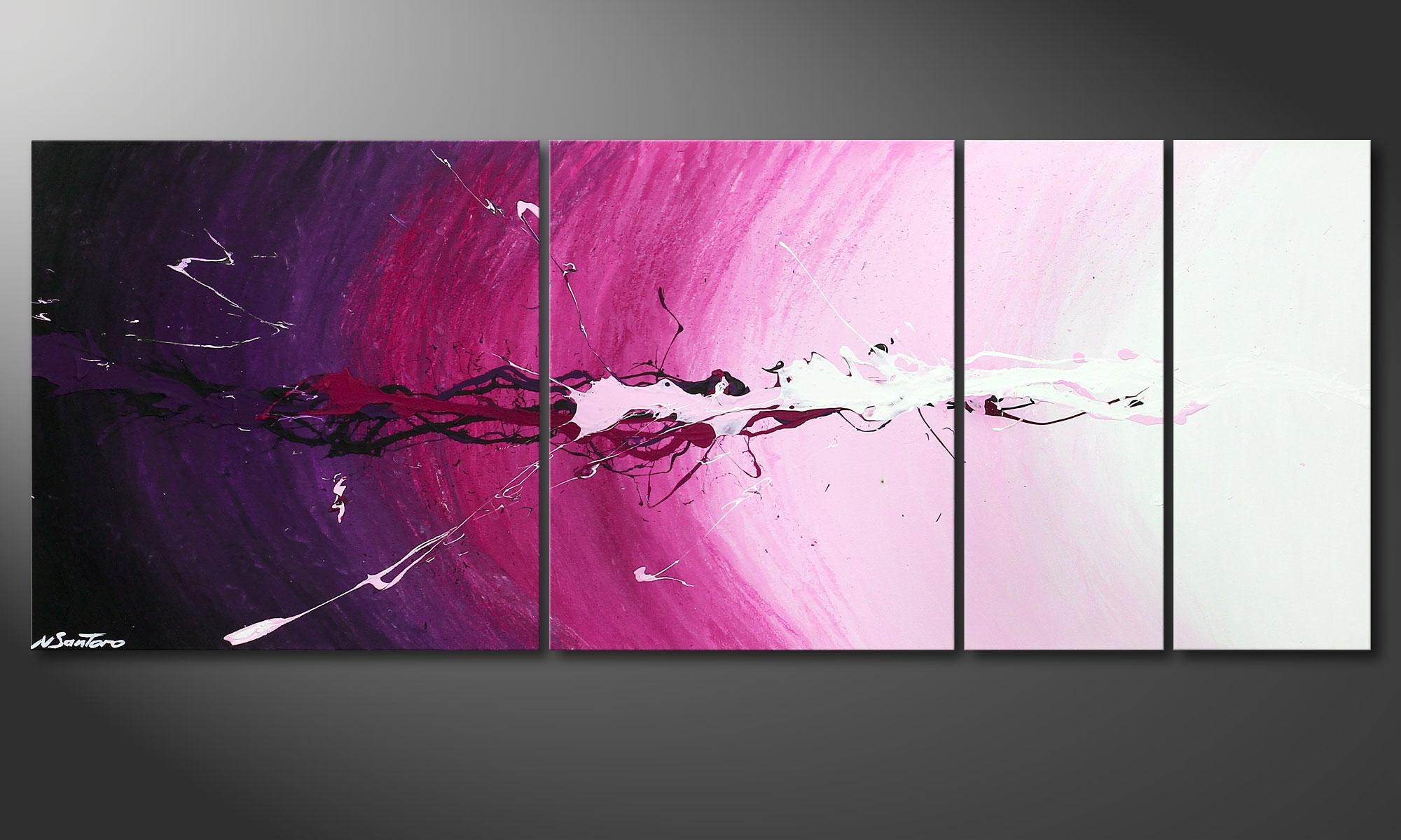 Great Das Keilrahmen Wandbild Cosmic Splash 130x50cm Idea