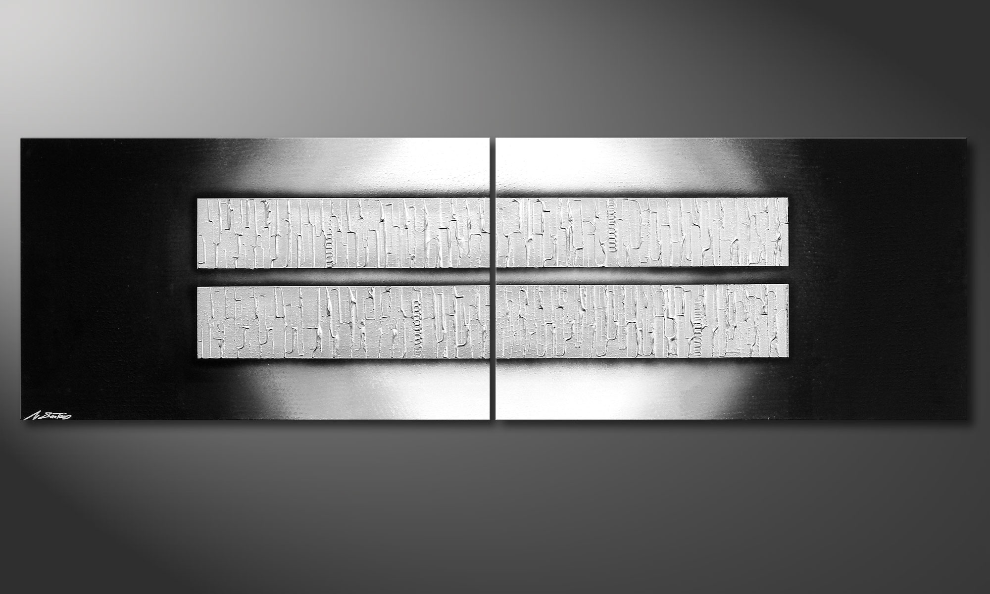 Das leinwandbild crushed ice 200x60cm wandbilder xxl - Leinwandbild grau ...