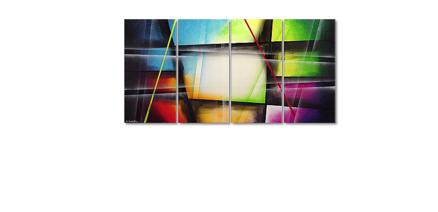 Das Leinwandbild Window to Rainbow 160x80cm