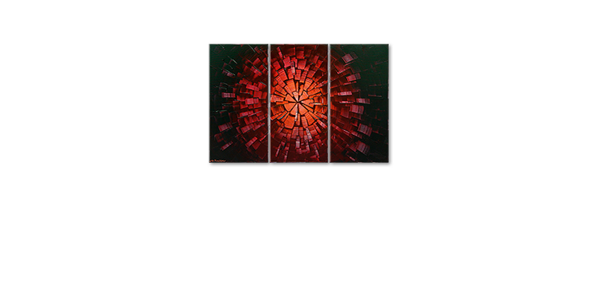 Das Wandbild Center of Glow 120x80cm