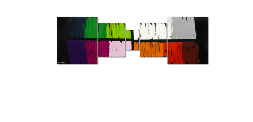 Das Wandbild Colorful Lights 220x70cm