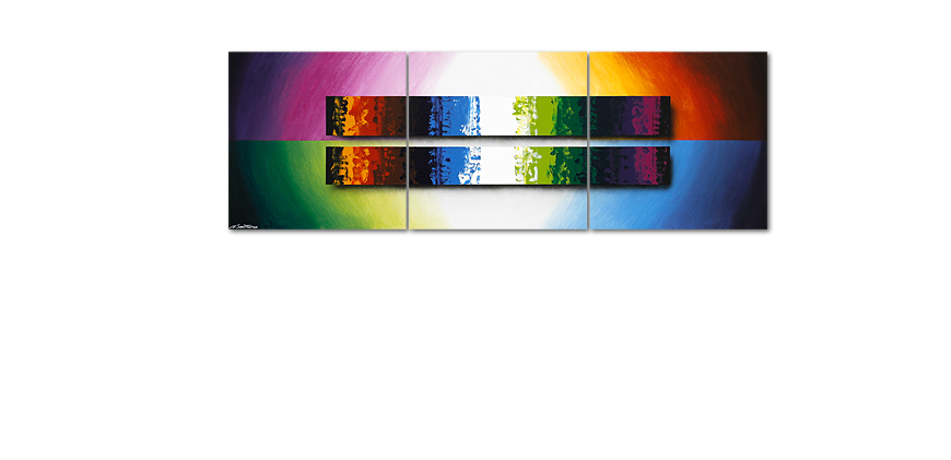 Das Wandbild Expression of Colours 210x70cm
