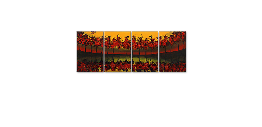 Das Wandbild Glowing Sky in 160x60cm