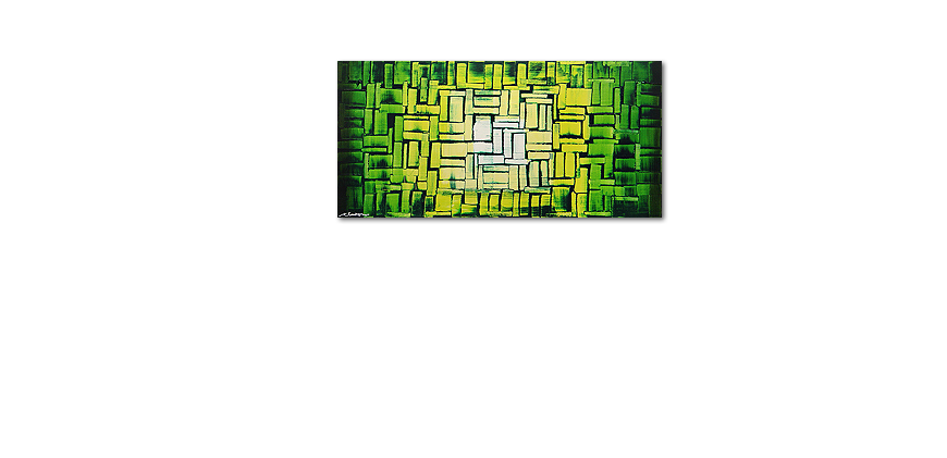 Das Wandbild Jungle Light in 120x60cm