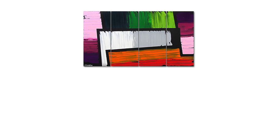 Das Wandbild Structure of Colors 160x80cm