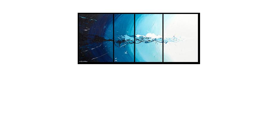 Das Wandbild Water Splash in 170x70cm - Wandbilder XXL