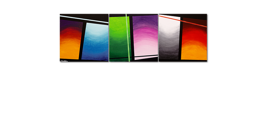 Das Wandbild Wave of Colors 210x70cm