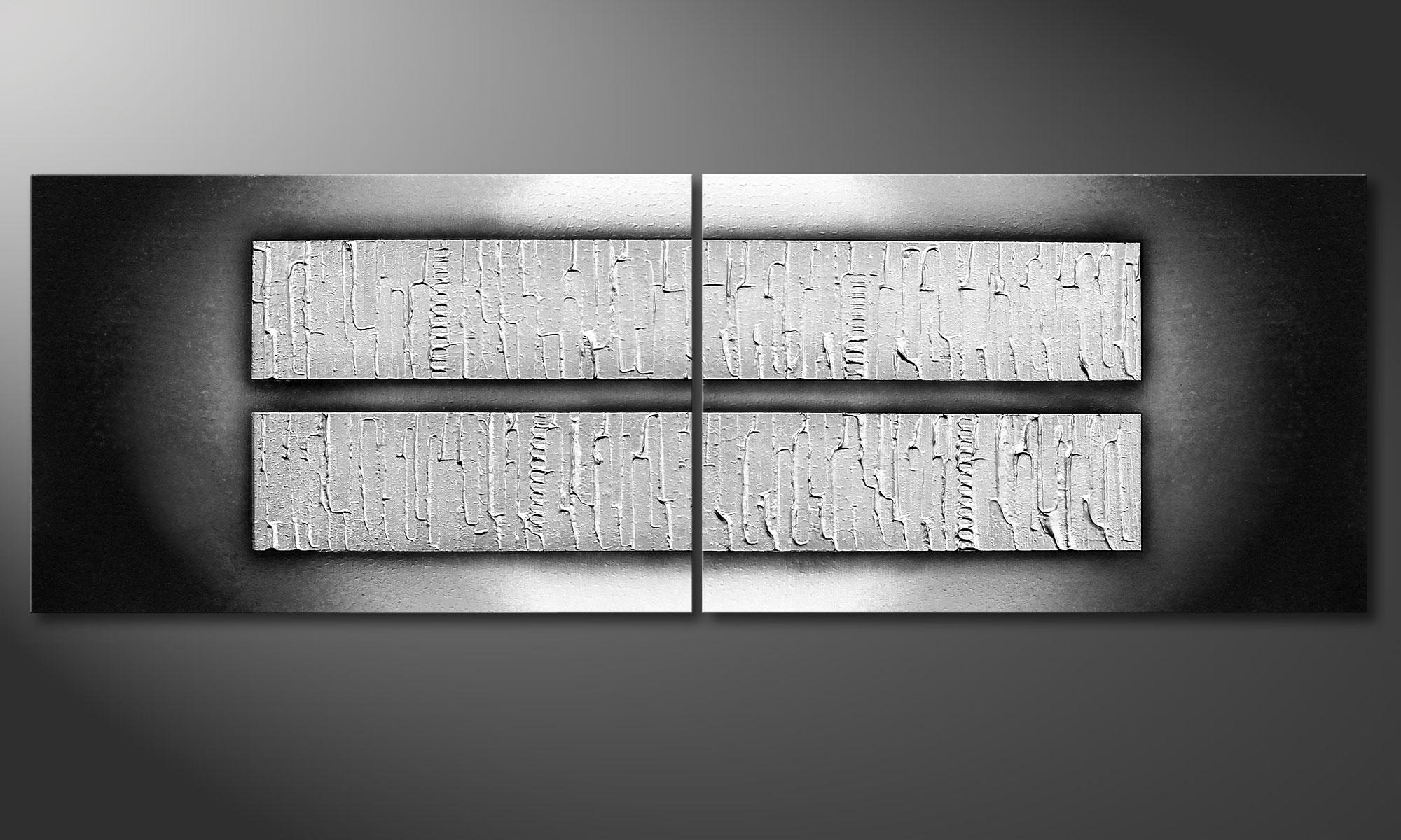 das wohnzimmer bild crushed ice 120x40cm. Black Bedroom Furniture Sets. Home Design Ideas
