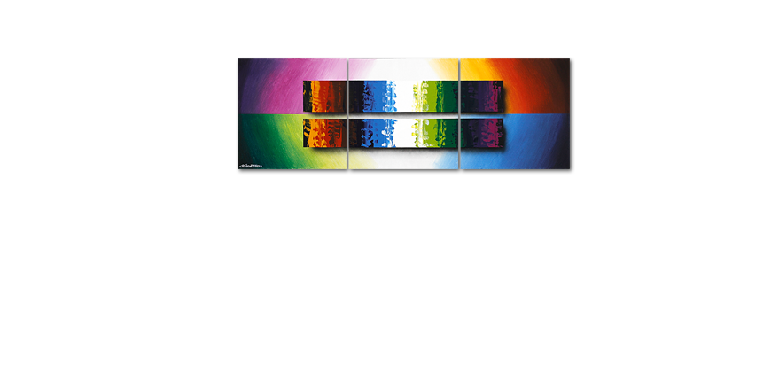 Das bunte Wandbild Expression of Colours 150x50cm
