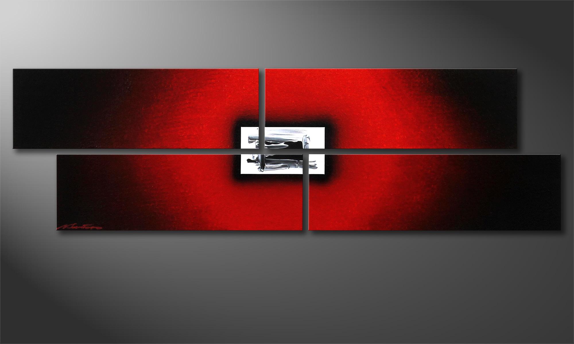 das handgemalte acrylbild lost red 130x40cm wandbilder xxl. Black Bedroom Furniture Sets. Home Design Ideas