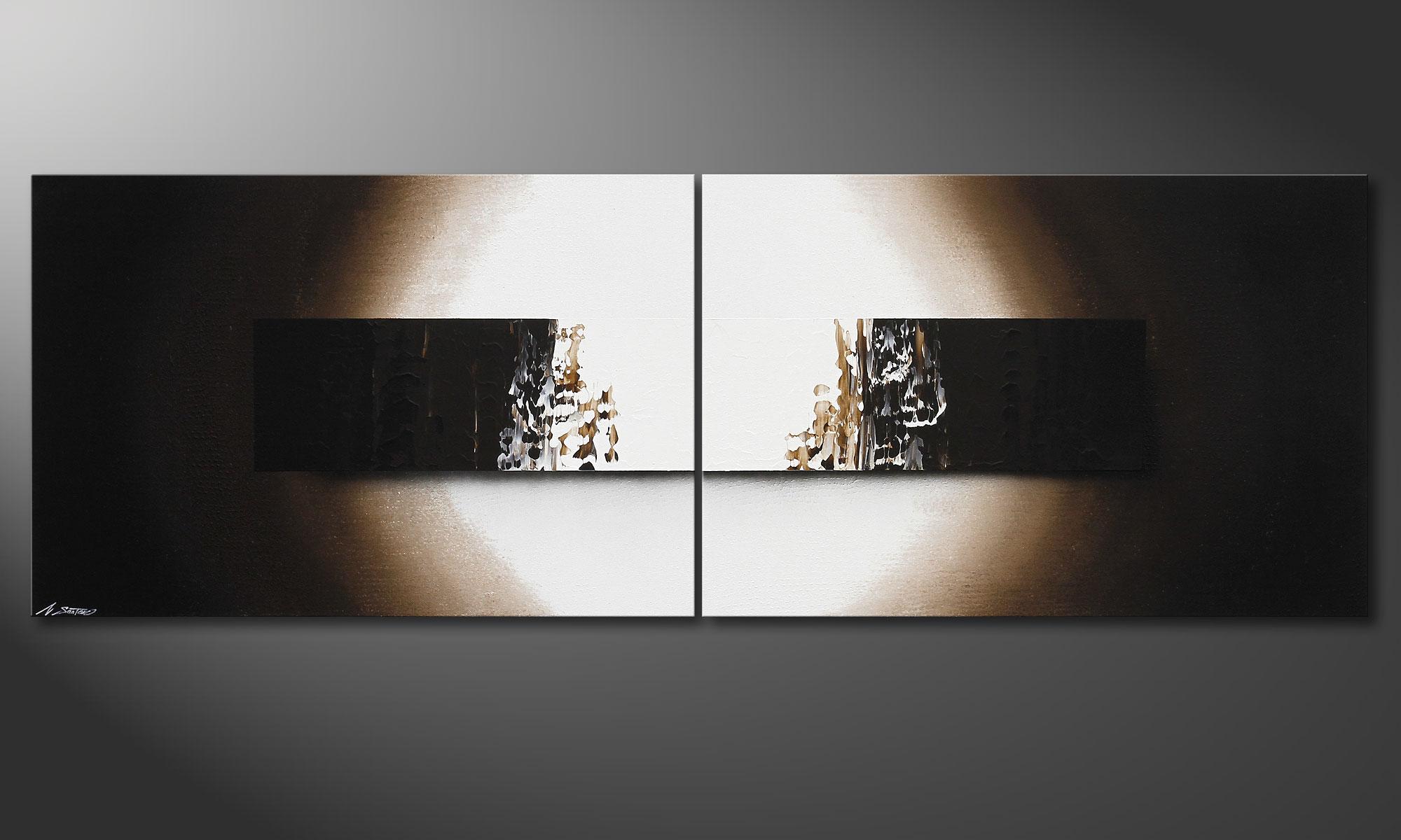 das handgemalte bild light rain 240x80cm wandbilder xxl. Black Bedroom Furniture Sets. Home Design Ideas